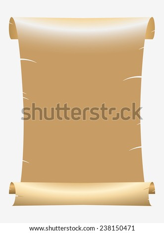 Old Paper Scroll - stock vector
