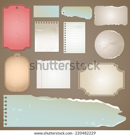 Old paper template vector - stock vector