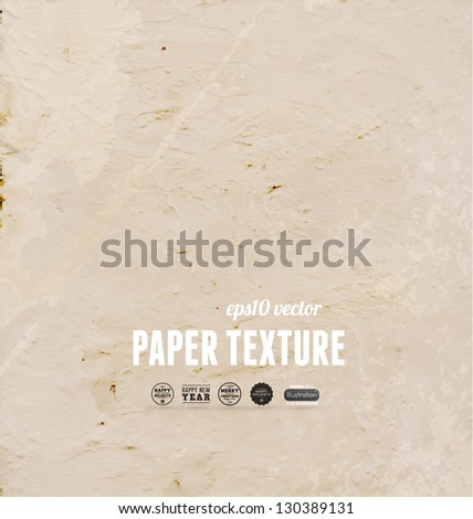 Old paper texture for retro grunge design - stock vector