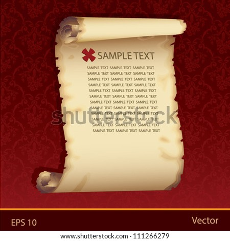 Old paper vintag - stock vector
