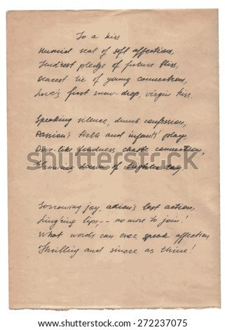 Old Paper With Hand-written Text Background - stock vector