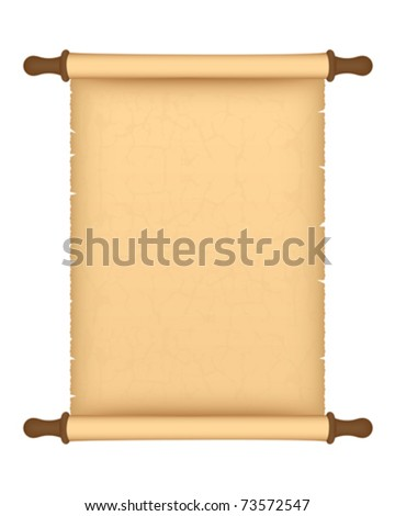 Old parchment roll - stock vector