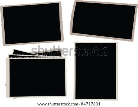 Old photo frames for your own artwork! Vector. - stock vector
