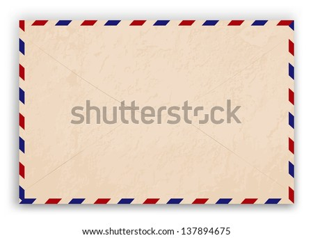 Old post envelope, background