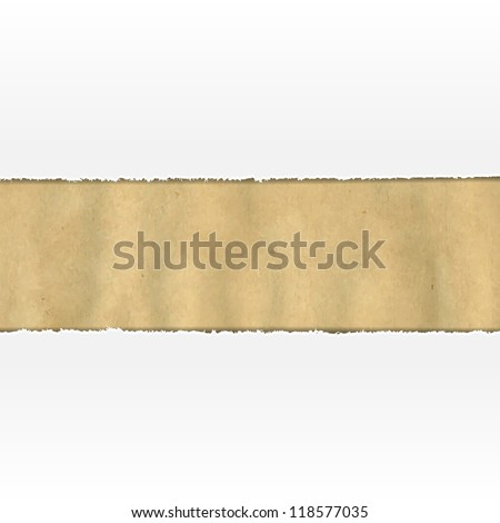 Old Ripped Paper With White Paper, Vector Illustration - stock vector