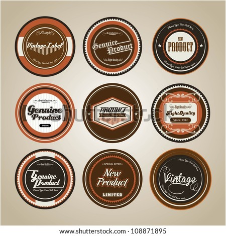 Old School Badge - stock vector