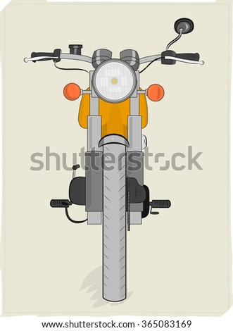 Old school motorcycle vector illustration - stock vector