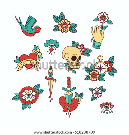 Traditional Tattoo Stock Images Royalty Free Images Amp Vectors Shutterstock