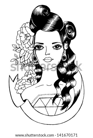 Pin Up Hair Drawing Images amp Pictures Becuo
