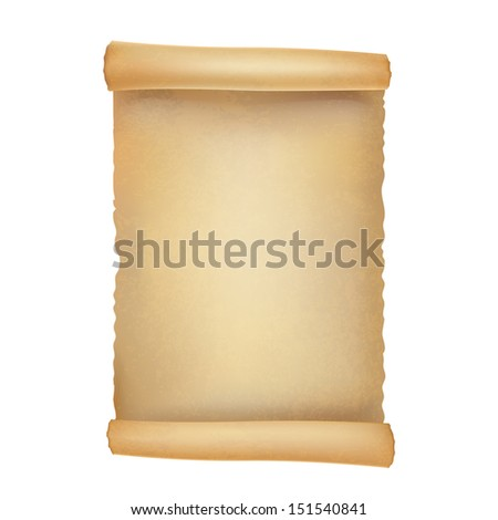old scroll on white - stock vector