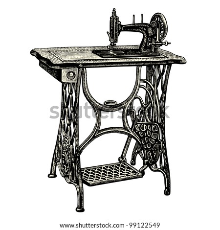 Sewing machine stock images royalty free images vectors shutterstock - Machine a coudre dessin ...