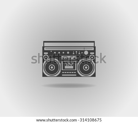 old stereo icon - stock vector