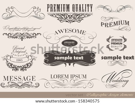 Old style frames and labels/ Retro floral ornaments/ Vintage  borders and other elements - stock vector