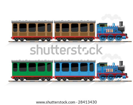 old-style tank engine - stock vector