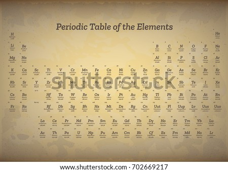 Old style vintage periodic table elements stock photo photo vector old style vintage periodic table elements stock photo photo vector illustration 702669217 shutterstock urtaz Image collections