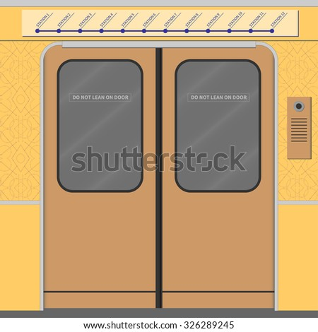 Old subway train doors. Vector illustration. EPS 10, opacity - stock vector