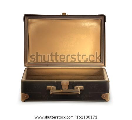 Old suitcase vector - stock vector