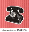 old telephone - stock vector