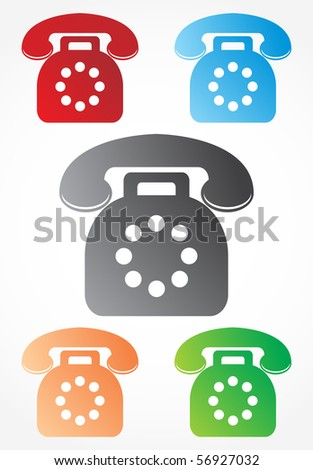 Old telephone signs - stock vector