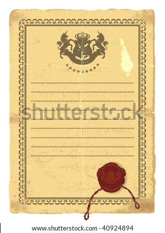 Old texture form for writing. - stock vector