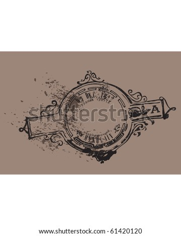 Old Time stamp - stock vector