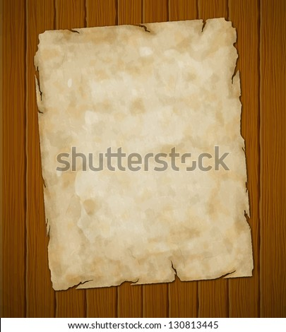 Old torn paper. Vector grunge background. Eps8 (object-group) - stock vector