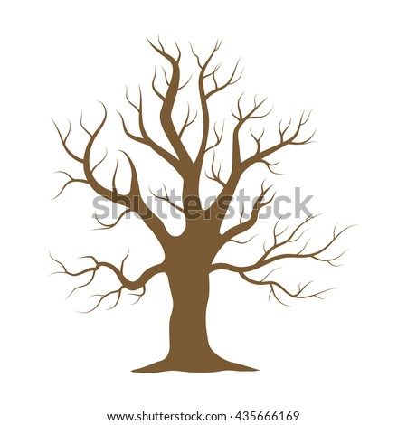 Tree Without Leaves Stock Illustration 133577978 ...