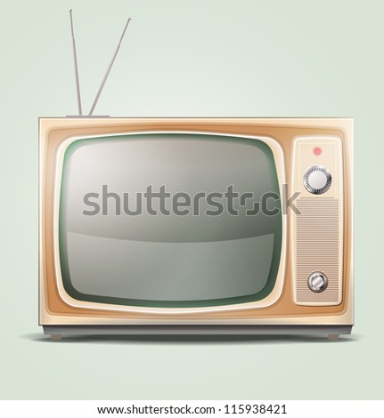 Old TV EPS 10 - stock vector