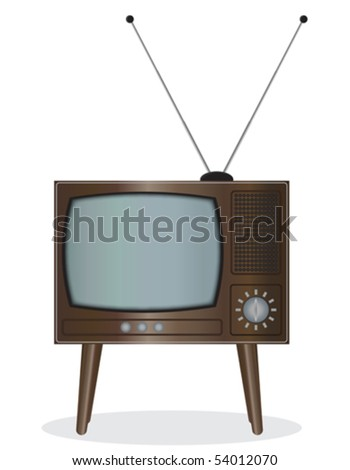 Old TV set - an illustration for your design project.