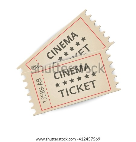 Old Vector vintage paper tickets with numbers