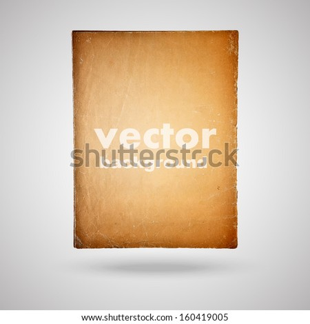 old vintage paper sheet isolated, vector background - stock vector