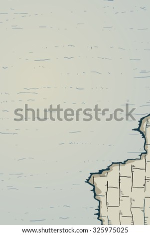 old wall - stock vector