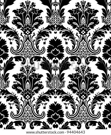 Old wallpaper - stock vector