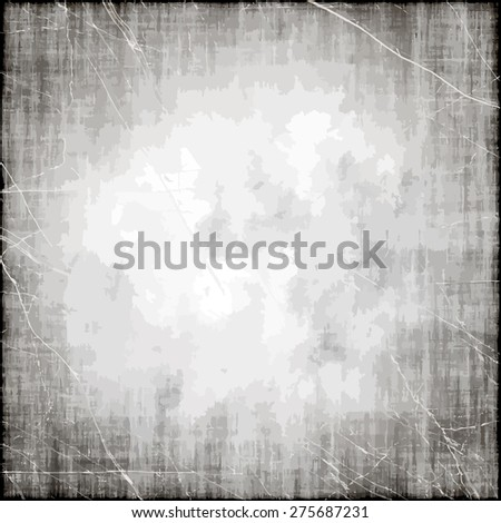 Old white paper texture abstract grunge background. - stock vector