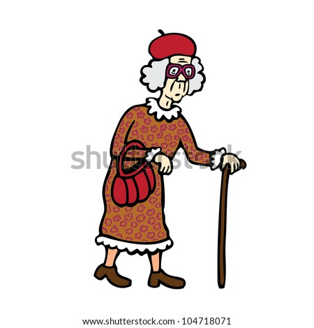 Old Woman - stock vector