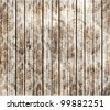 Old wood background with seamless flower pattern | vector design - stock vector
