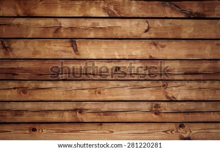 Old wood texture, vector - stock vector