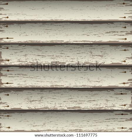 Old wooden texture. Vector background - stock vector