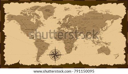 Treasure world map stock images royalty free images vectors old world map vector illustration gumiabroncs
