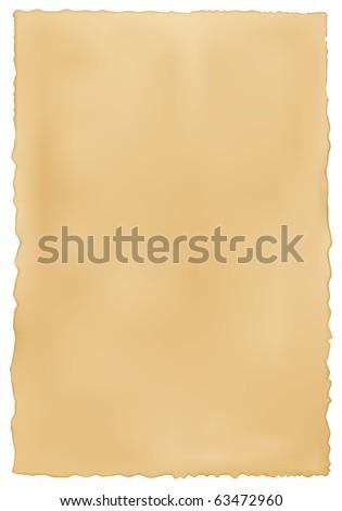 Old worn paper background. Vector. - stock vector
