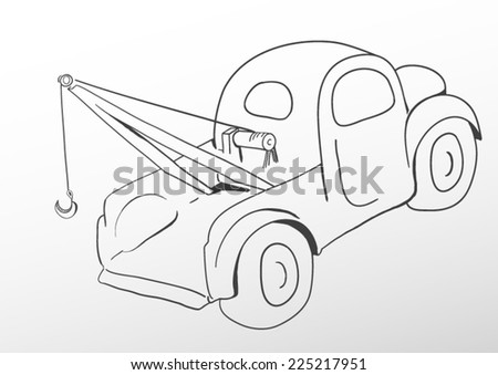 Oldschool tow truck - stock vector