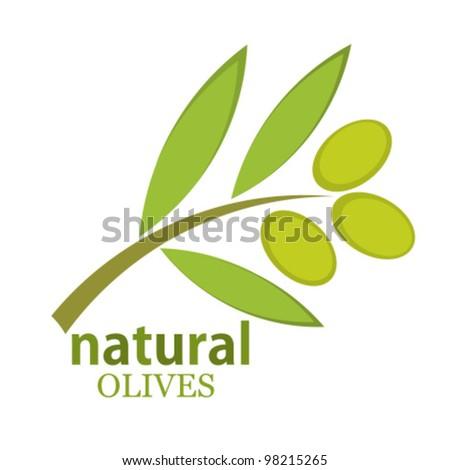 Olive branch symbol. Vector illustration - stock vector