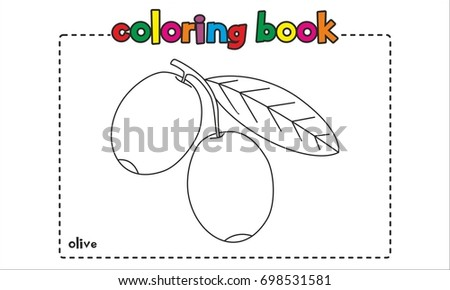 Olive Coloring Book Page