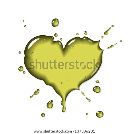 Olive oil splash - stock vector
