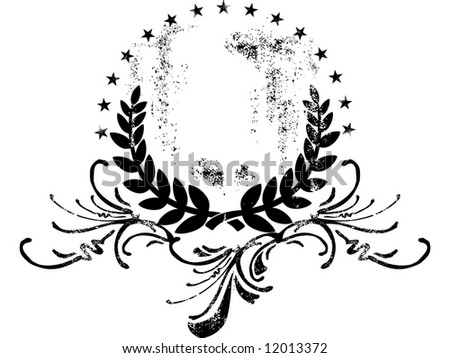 olives monochrome emblem - stock vector