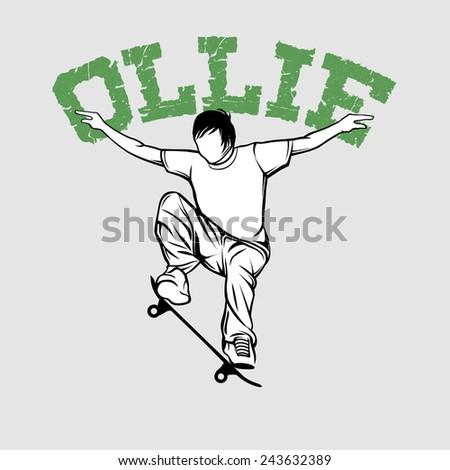 Ollie - stock vector