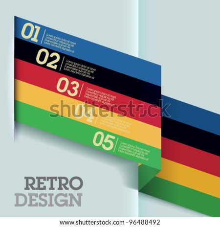 Olympic games design template. Suitable for all kinds of advertising and for infographics. - stock vector
