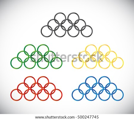 olympic games logo homage olympic circles in various colors rio 2016 tokyo 2020