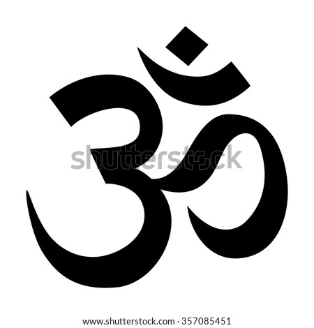 Om / Aum - symbol of Hinduism flat icon for apps and websites - stock vector