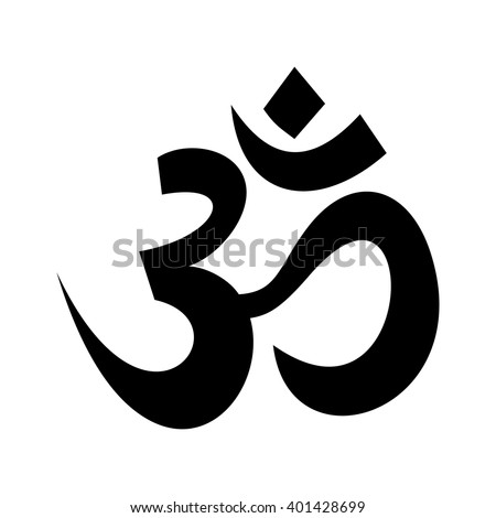 Om (Aum) - symbol of the Hindu religion. Black icon on white background. Sacred sound and a spiritual icon in Indian religions. Vector illustration - stock vector